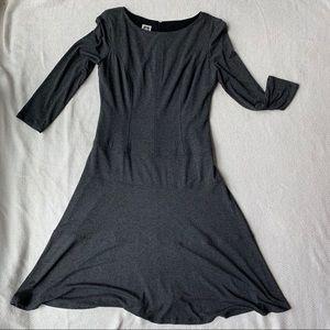 Anne Klein Gray Midi Dress Size 6